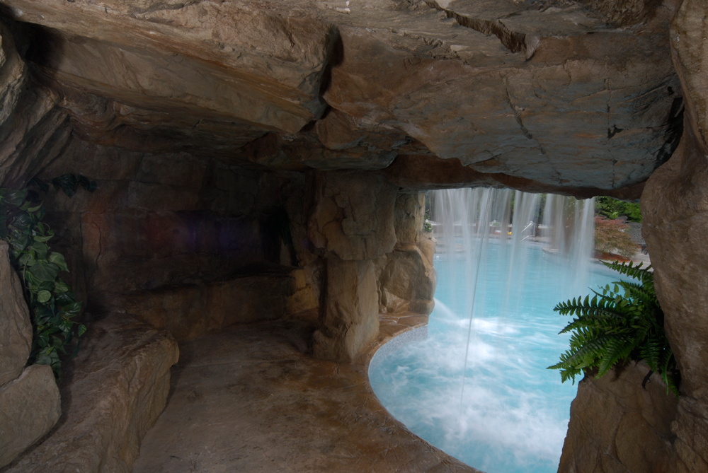 cave with waterfall fx design team